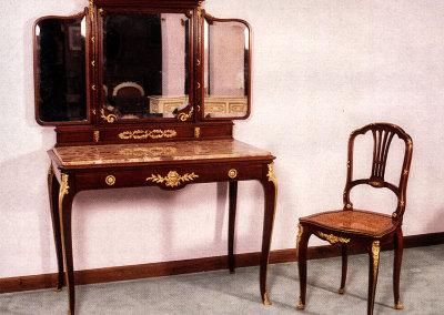 Toilette stile Luigi XV fdi epoca Napoleonica firmata Francois Linke